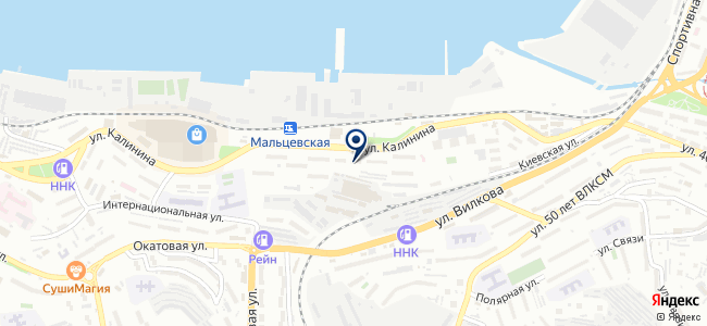 Ампер ДВ на карте