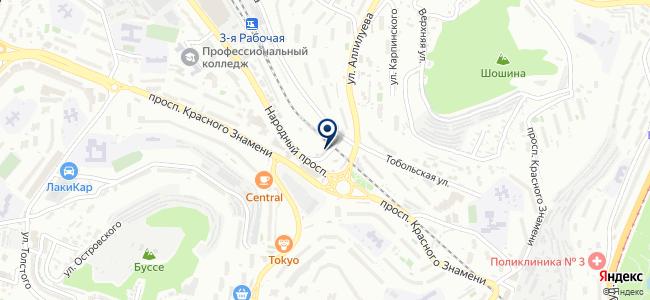 Диспетчерская служба пассажирского транспорта г. Владивостока на карте