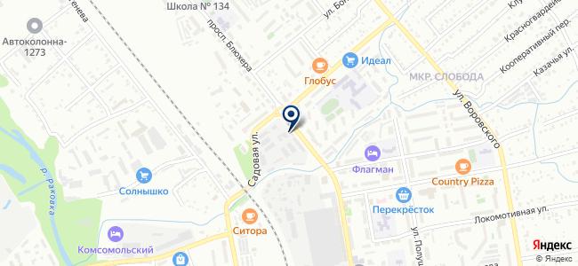 Фьюжин на карте