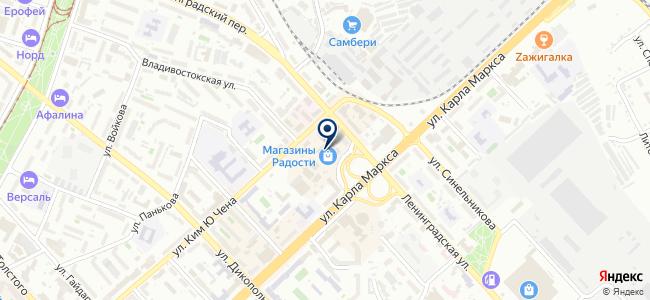 Урбаника на карте