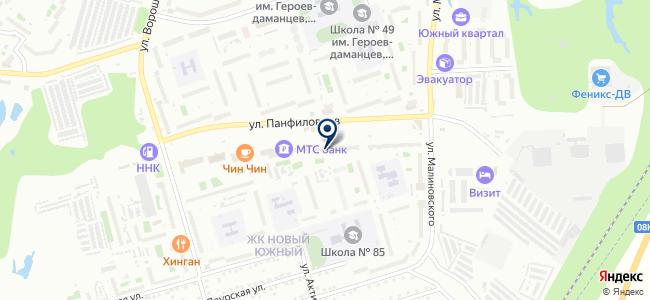 Панфиловец на карте