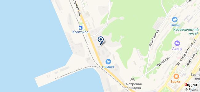 Сахторгснаб, ЗАО на карте