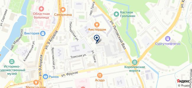 Автоцентр, Калининградский таксопарк на карте