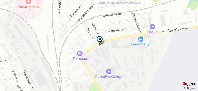 Псковский завод силовых трансформаторов, ООО на карте