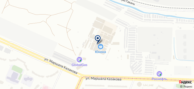 Лампочки на Юноне на карте