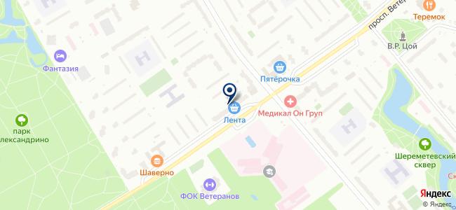 Магазин люстр на проспекте Ветеранов, 55 на карте