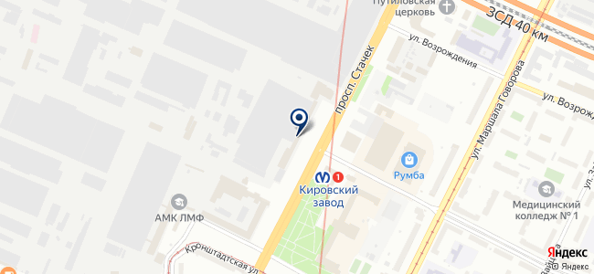 Синтез-Кировец, ОАО на карте