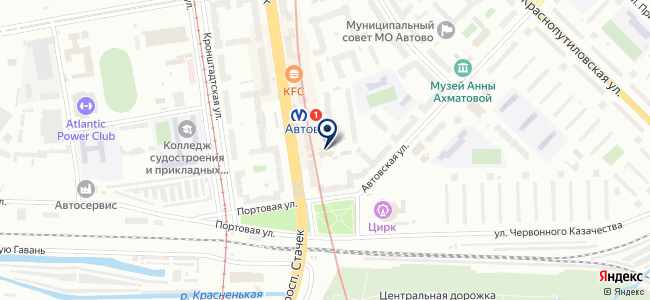 Магазин электротоваров на проспекте Стачек, 94 к3 на карте