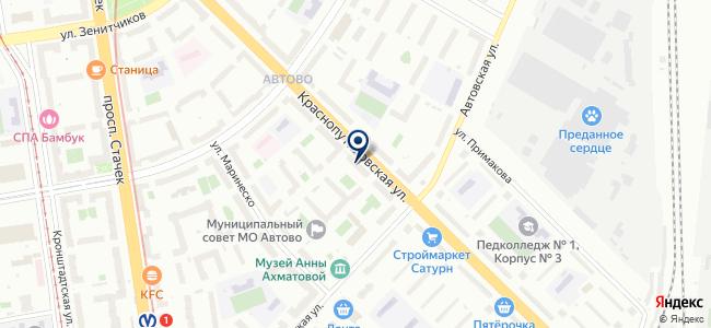 РАДАР, ЗАО на карте