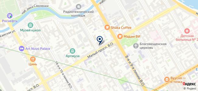 Лайн на карте