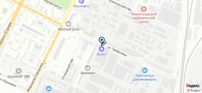Взлет, ЗАО на карте