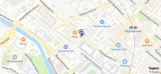 Нева-Сфера СПб на карте