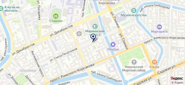Маре-интериор на карте