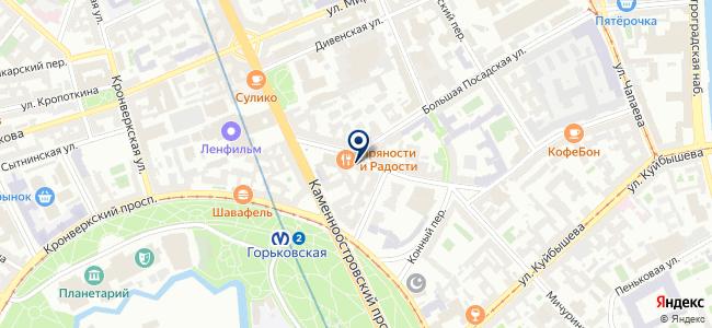 Парадокс, ООО на карте