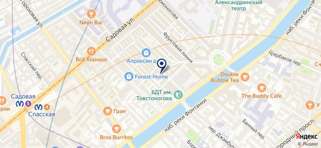 Магазин люстр на Садовой, 28-30 к51 на карте