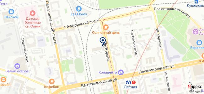 Технологические системы и сервис, ЗАО на карте