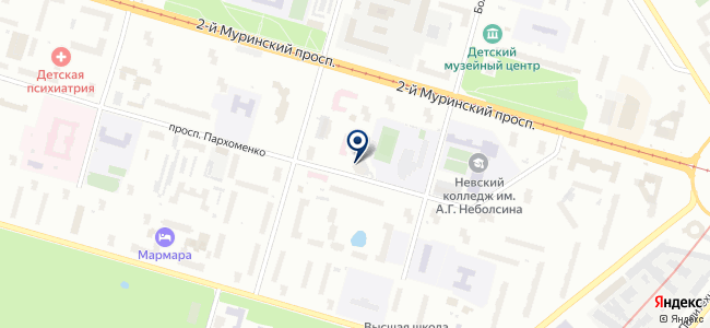 Аспект Северо-Запад, ЗАО на карте