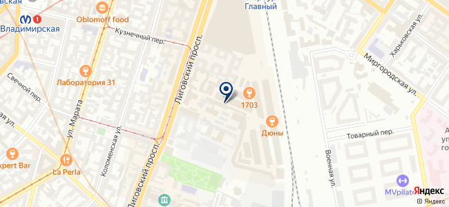 Магазин радиотоваров на Лиговском проспекте, 50 к10 на карте