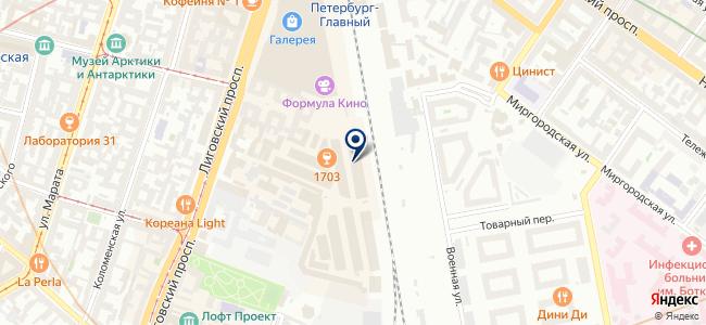 Магазин светотехники на Лиговском проспекте, 50 к1 на карте