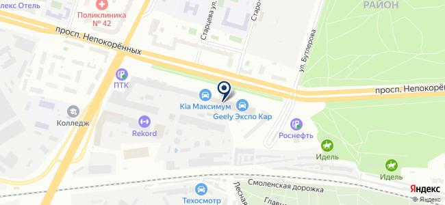 КАВЕКС на карте