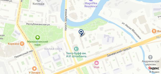 Мариметр, ЗАО на карте