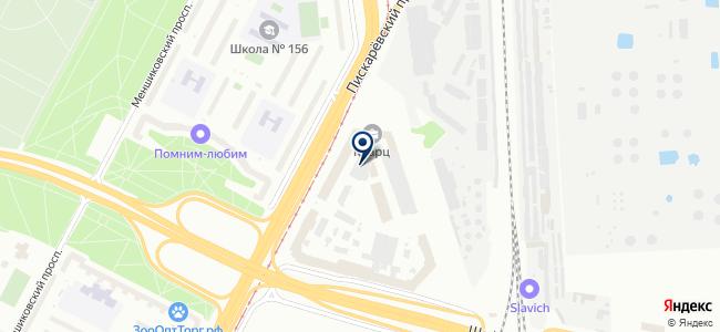 Виадук-П, ЗАО на карте