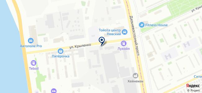 Атлантида, ООО на карте