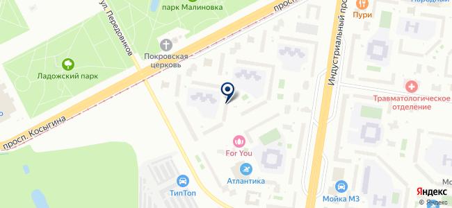 Интерн на карте