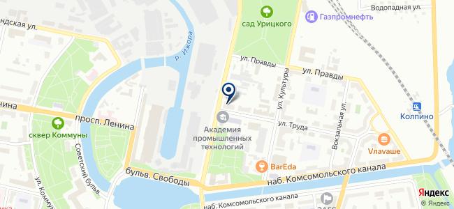 Невская Крепость на карте