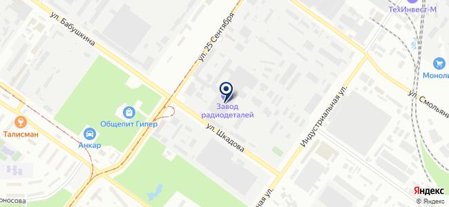 Смоленский завод радиодеталей, ОАО на карте