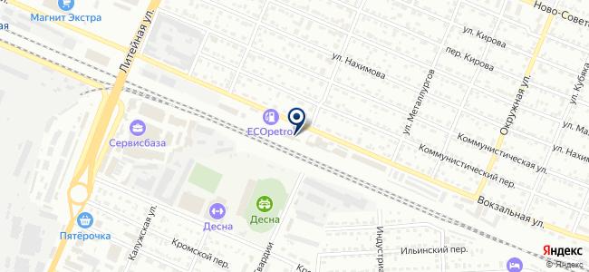 Бежицкое таксомоторное автотранспортное предприятие, ООО на карте