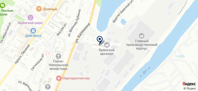 Брянский Агрегатно-Механический Завод, ЗАО на карте