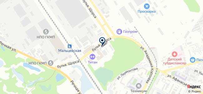 Регион, ООО на карте