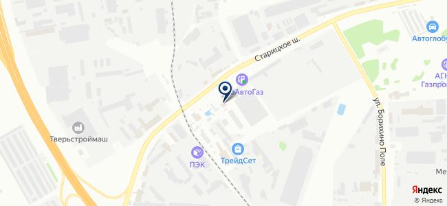 Восток-Сервис-Тверь, ЗАО, торговая компания на карте