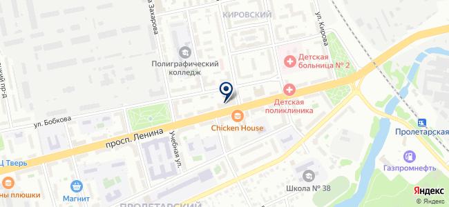 Калина, торговый дом на карте