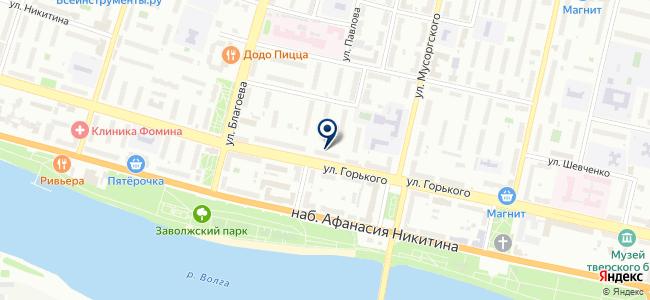 Счётчики, магазин газового и энергосберегающего оборудования на карте