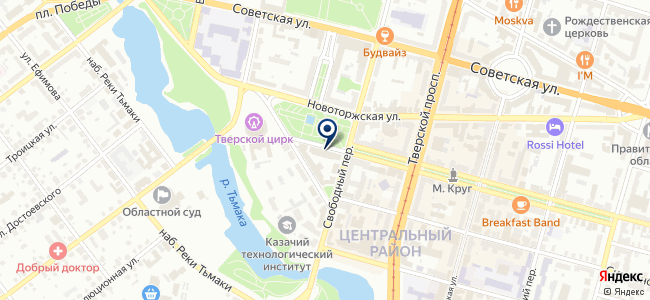 Эффективные технологии, геодезическая компания, представительство в г. Твери на карте