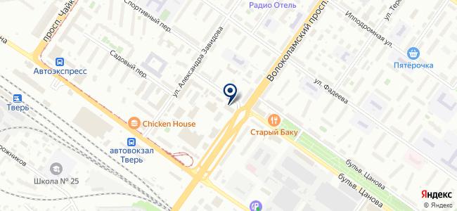 Ассоциация междугородних автобусных перевозчиков, некоммерческое партнерство на карте