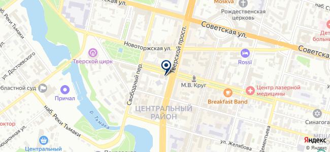 Рубанок, сеть магазинов на карте
