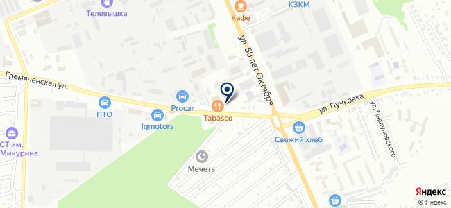 Сеть магазинов строительных и отделочных материалов на карте