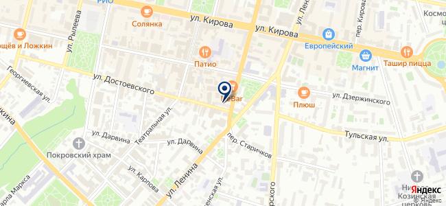 Магазин ковров и светотехники на ул. Достоевского, 57 на карте