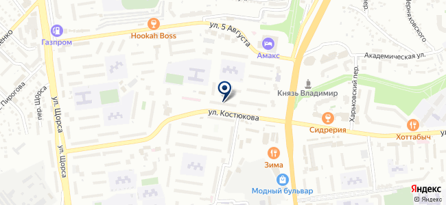 Электрощит-Белгород на карте