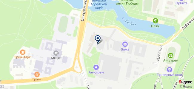 ЭВК Схема, ЗАО на карте
