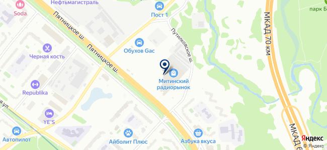 Компоненты и микросхемы на карте