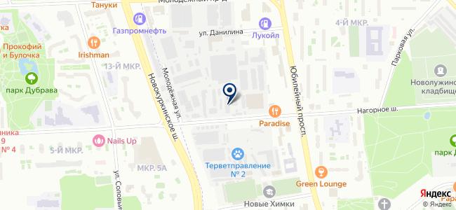 Компонента Сервис, ООО на карте