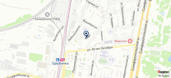 Электросеть городского округа Щербинка, МУП на карте