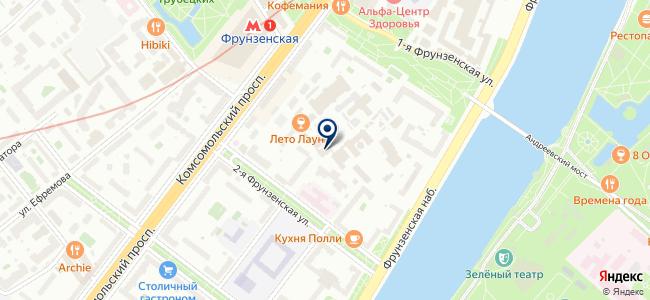 Стройэкспо на Фрунзенской, ОАО на карте