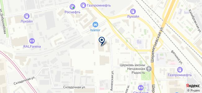 Автобусный парк №6 на карте