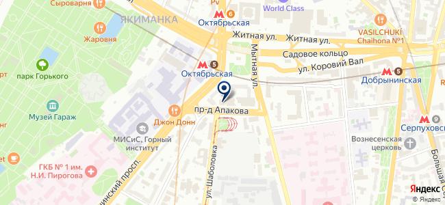 Красивая квартира на карте