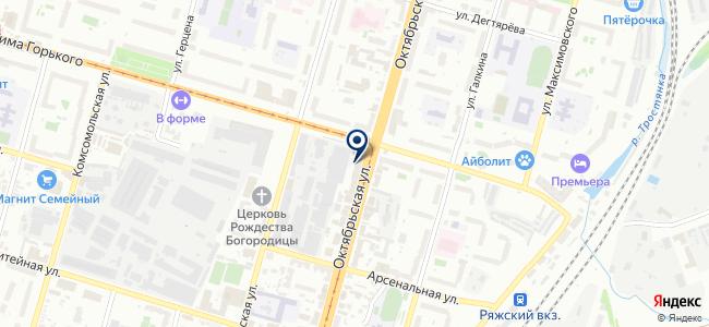Приоритет, ООО на карте